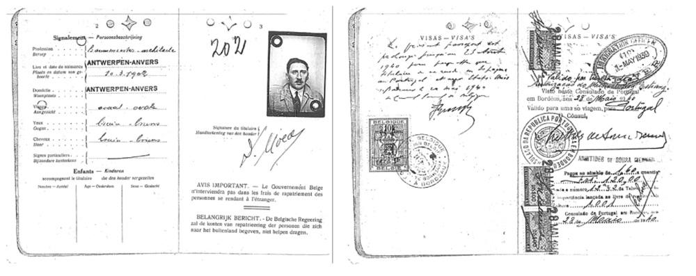 pasaporte-de-david-moed-refugiado-judio-de-amberes-con-la-firma-de-sousa-mendes-sobre-el-visado-eric-moed-horizontal