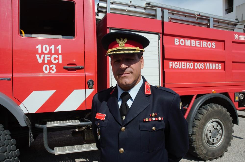 El comandante de los Bomberos Voluntarios de Figuero dos Vinhos