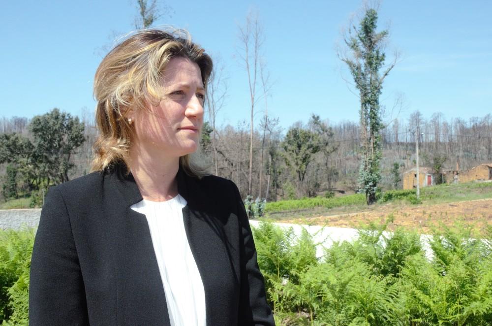 Nadia Piazza, presidente de la Asociacion de Victimas de Pedrogao Grande